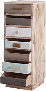 ts ideen kommode ablage 82 cm regal braun bunt holz schubladen wohnzimmer flur aufbewahrung kinderzimmer badezimmer büro