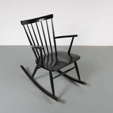 1807-1 (130) M22741 1950s Beautiful Black Wooden Rocking ... Qvist Rocking Chair Ftstool Argo Graffiti Black Tower Comfort Design The Norraryd Black Rustic Industrial Fniture Patio Wood Living Chairold Age Single Icon In Cartoonblack Style Attractive Ottoman Nursery Walmart Glider Amazoncom Rocker Comfortable Armrest Wood Rocking Chair Images Buying J16 Rar Base Pp Coral Pink Usa Ca 1900 Objects Collection Of