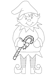 Christmas Elf Coloring Pages