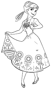 Anna Coloring Pages Frozen Fever