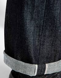 nudie jeans thin finn slim fit organic dry heavy selvage in blue