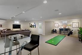 basement or recreational room with plenty of space and a