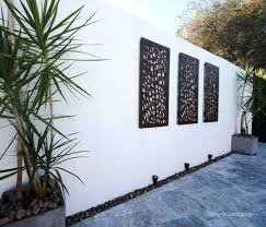 Decoration Modern Garden Wall Best Collection Of Outdoor Art Ideas Outside Contemporary Decor Five Throughout