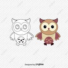 Para Colorear Dibujos Animados Búho Cartoon Animal Owl