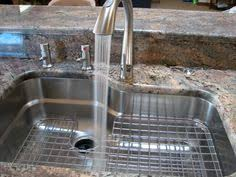 the franke orca sink love how the drain grids fit onto the shelf