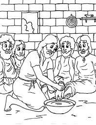 The Bible Coloring Book Creative Child Press Jesus Washes Disciples Feet For Kids Car