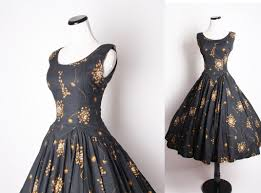 50s Vintage Cocktail Dress Black Dresses Dandelion
