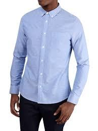 Light Blue Long Sleeve Oxford Shirt Mens Shirts Clothing