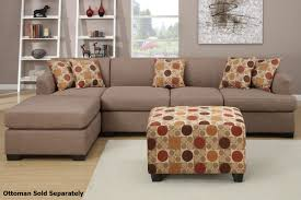 Poundex Reversible Sectional Sofa by Montreal Iii Beige Fabric Sectional Sofa Steal A Sofa Furniture