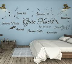 wandtattoo wandsticker schlafzimmer gute nacht verschiedene