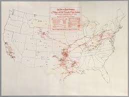 Map Of Oil Trunk Pipe Lines
