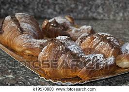 A Traditional Italian Dessert For The Breakfast Chocolate Croissant