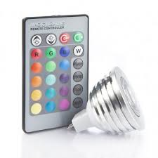 3 watt 12v mr16 multicolour led bulb with remote 35w equivalent
