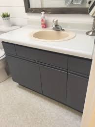 Bathroom Update How to Paint Laminate Cabinets — The Penny Drawer
