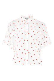polka dot print shirt topshop