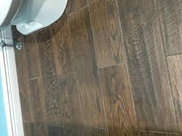 wood like flooring small and narrow bathroom remodel design with