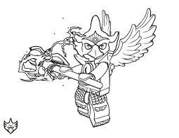 Lego Chima Coloring Pages Eagle Eris