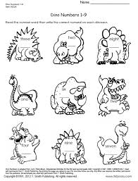 Snapshot Image Of One Page From Dinosaur Numbers 1 9 And 10 18 Worksheet