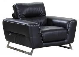 100 Contemporary Armchair Global United 485 Black Genuine Italian Leather