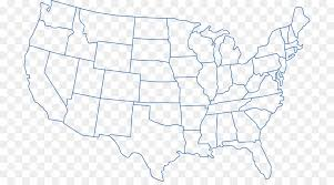 Outline Of The United States Blank Map World