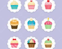Cupcake Clipart cupcakes cupcake digital clipart digital vector cupcake illustration bakery