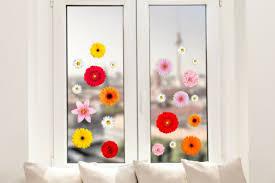 hochwertige fenstersticker blumen blüten sommer