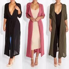 Long Coats For Women 2017 Spring New Fashion Casual Womenu0027s Trench Coat Chiffon Outerwear