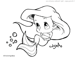 Baby Disney Princess Coloring Pages Princesses All Printable