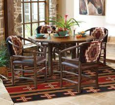 Timberline 60 Inch Round Table With Southwestern Chairs