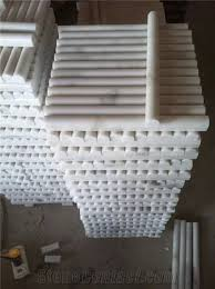 china guangxi white marble pencil liners cheap white marble