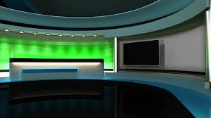 Tv Studio Set The Perfect Backdrop For Any Green Screen Or Chroma News