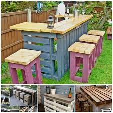 VIEW IN GALLERY DIY Pallet Bar Table And Stools1