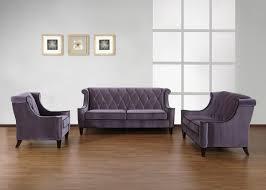 armen living barrister sofa gray velvet black piping al