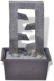 unfadememory zimmerbrunnen mit led beleuchtung polyresin