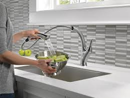 Delta Linden Kitchen Faucet 4353 Sssd Dst by Delta Faucet 4153 Ar Dst Linden Single Handle Water Efficient Pull
