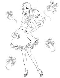 Coloring Pages Barbie Painting Designs Canvas Fashion