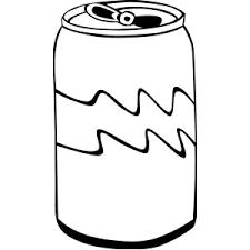 Soda clipart black and white 1 636