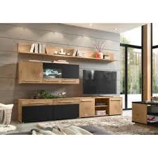 details zu tv wand anbauwand mediawand wohnzimmer set programm anthrazit holz modern led