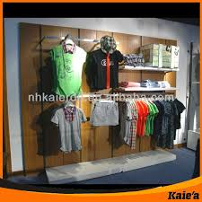 Retail Store Fashion Wall Display Shelf For Clothing
