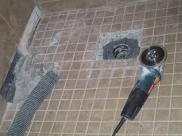 basement ceiling leak part 8 shower floor removal begins