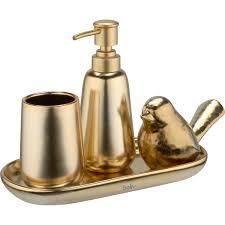 baliv badezimmer tablett retro futures keramik goldfarben