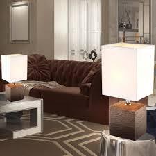 etc shop tischleuchte 2x tisch len schlafzimmer keramik textil schirm dielen leuchten braun weiß kaufen otto