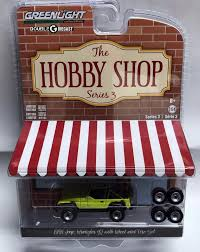 1:64 Greenlight The Hobby Shop S3 - 1991 Jeep YJ Yellow With Wheel ...