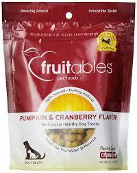 Libbys 100 Pure Pumpkin For Dogs by Fruitables Pumpkin U0026 Cranberry Crunchy Dog Treats 1 7 Ounce Pouch