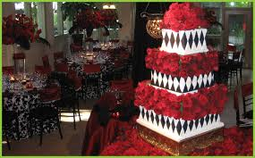 a This is a beautiful black and white wedding cake