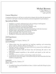 Sample Job Description Template Carpenter For Medical Office Manager Resume Resumes Free Samples Construction Examples