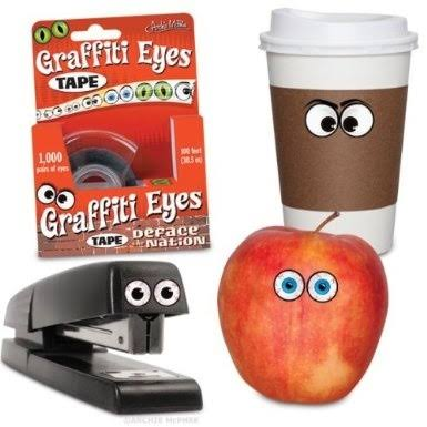 Accoutrements Graffiti Eyes Tape Dispenser Fun Novelty Gift