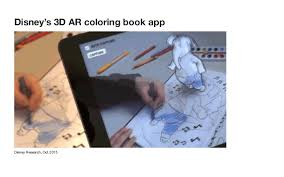 Disneys 3D AR Coloring Book App Disney Research Oct 2015