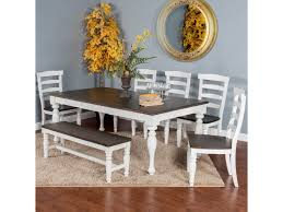 Sunny Designs Bourbon County Seven Piece Dining Set With Bench ... Hill Country Rectangular Table With Four Side Chairs And One Bench Kitchen Seat Fresh Ding Country Home Farm Table And Chair Set Just Fine Tables Wooden Cost Room Leons With Style Sets Home Interior Blog 6 Pc Farmhouse For Shabby Chic Pine Louis Xvi Benches Another Farmhouse Ding Room Set Bench The History Of Gbvims Makeover