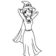 Witchs Hat Coloring Pages